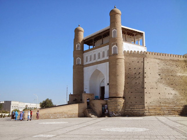 The entrance in the Bukhara ark fortress